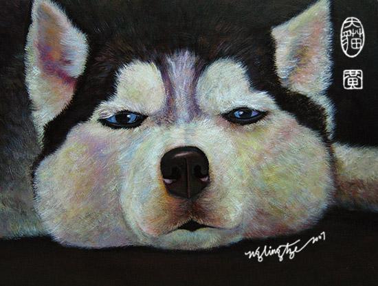 Still Sleepy, Acrylic Painting by Ng Ling Tze