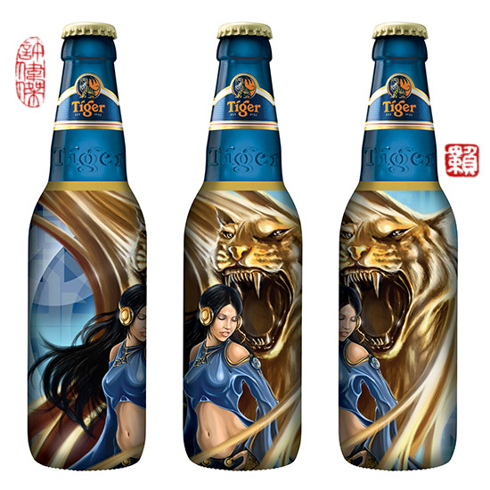Tiger Beer Bottle design by Terence Koh