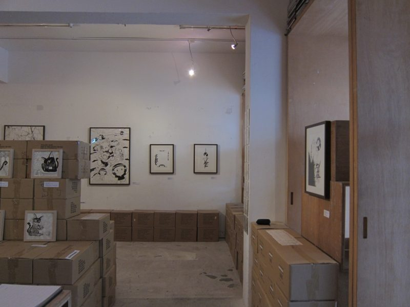 Terence Koh's artworks at the exhibition 01