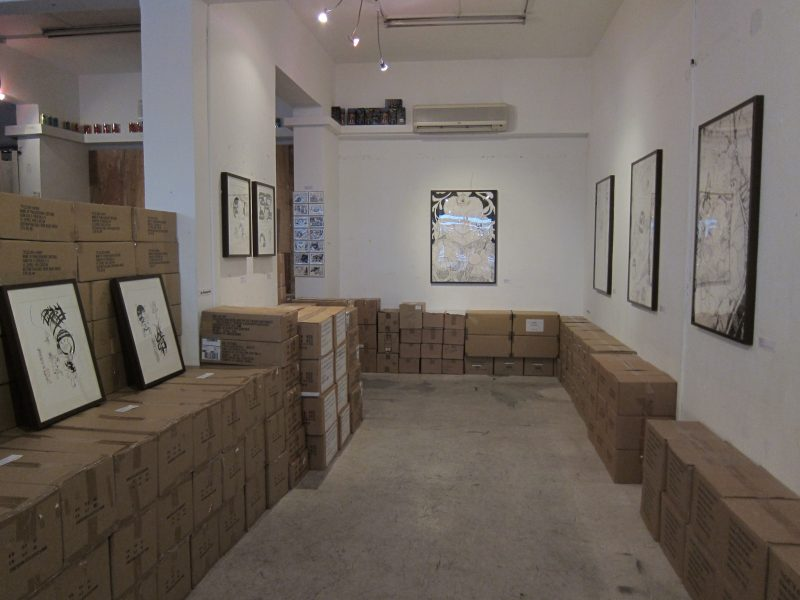 Terence Koh's artworks at the exhibition 02