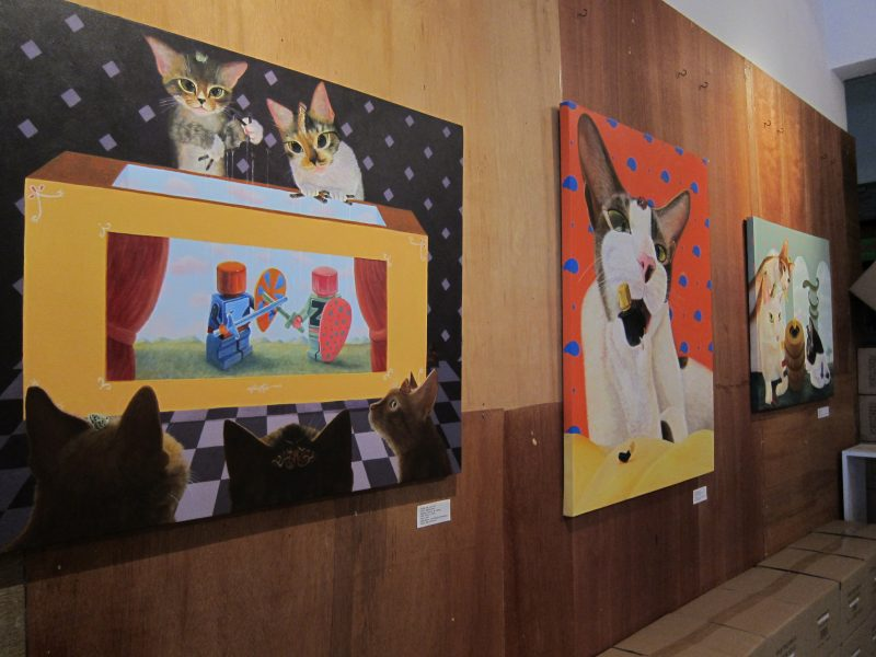 Ng Ling Tze's artworks at the exhibition 04