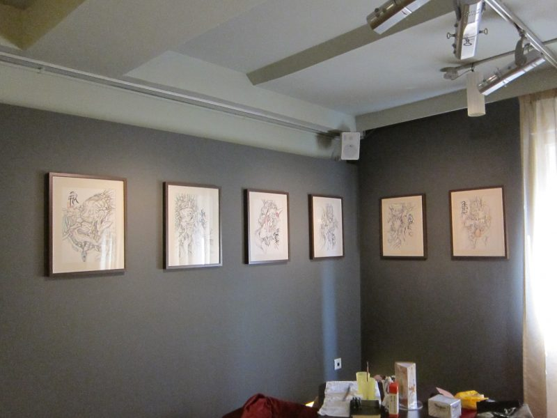 Terence Koh's artworks on the wall 01