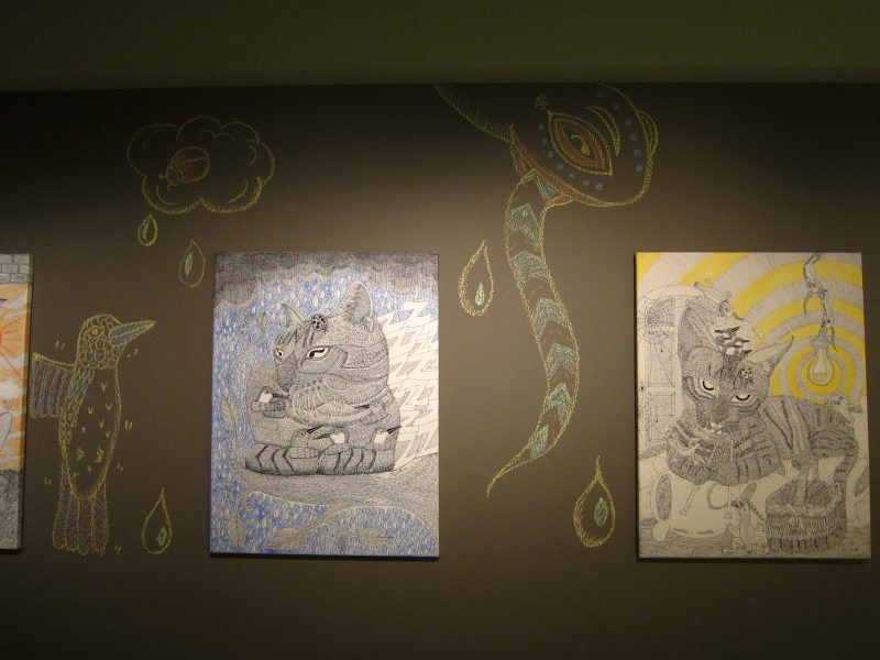 Ng Ling Tze's artworks and mural painting on the wall 02