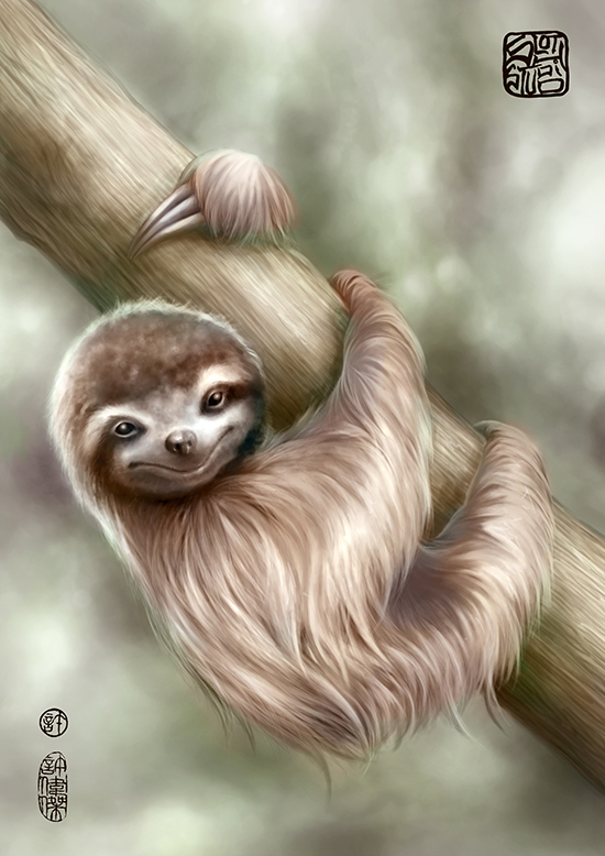Hanging Around, Digital Painting by Terence Koh