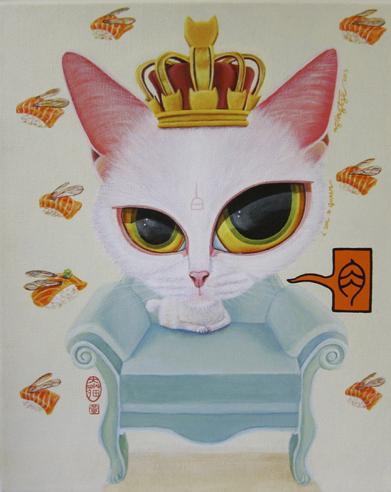 I Am A Queen, Acrylic Painting by Ng Ling Tze