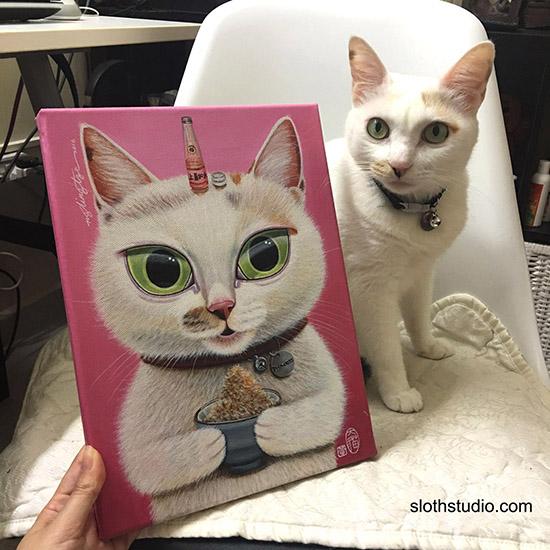 cat with portrait painting 16