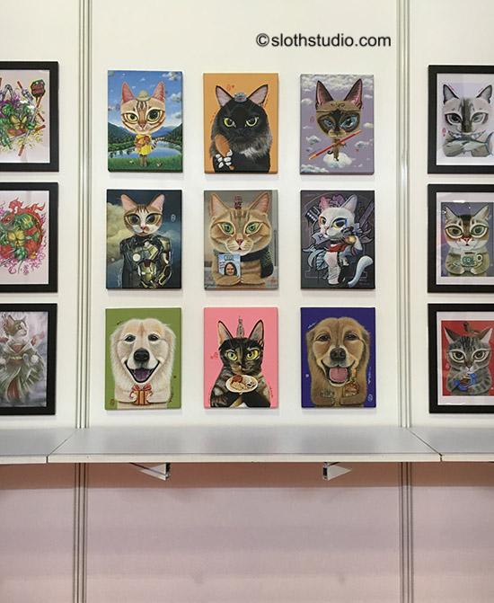 Ling Tze's artworks.