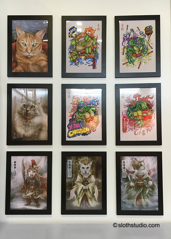 Terence's artworks.