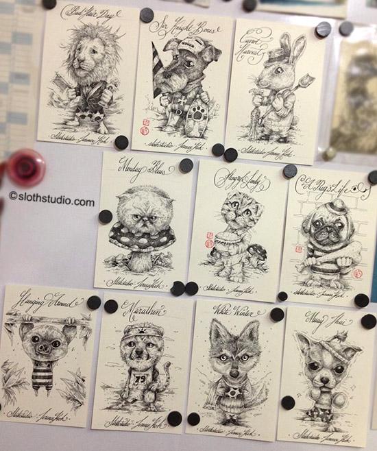 Terence Koh's artwork preparation