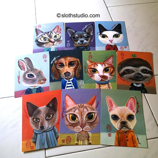 Ng Ling Tze's artwork preparation