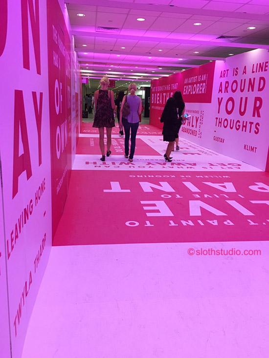 Special pinkish corridor.