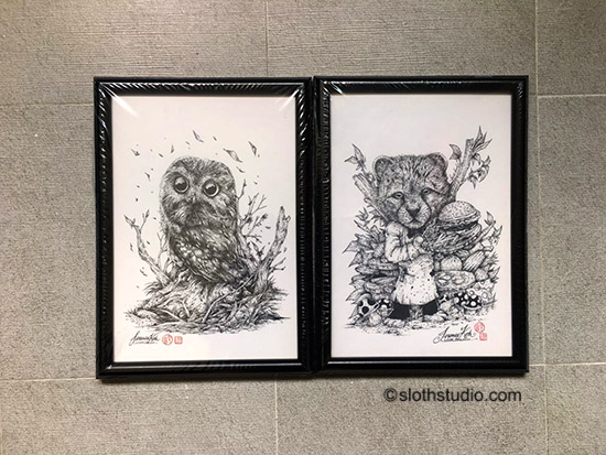 Both original ink artworks of Terence Koh are SOLD :)